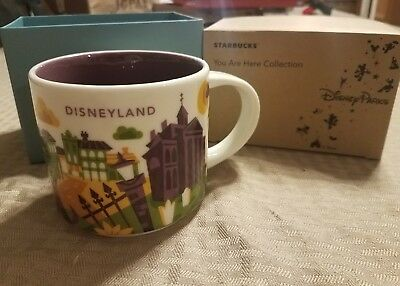 Disneyland Starbucks New Orleans Square You Are Here Haunted Mansion RETIRED Mug