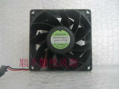 1pcs PMD2409PMB3-A 90*90*38mm 24V 6.0W SUNON fan 2pin 90 days warranty #M624 QL