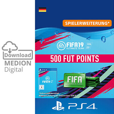 Sony FIFA 19 Ultimate Team 500 Points Punkte für Playstation PS4 Code Download