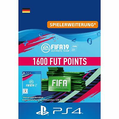 Sony FIFA 19 Ultimate Team 1600 Points Punkte für Playstation PS4 Code Download
