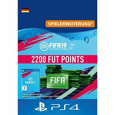 Sony FIFA 19 Ultimate Team 2200 Points Punkte für Playstation PS4 Code Download