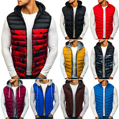 BOLF Vests Gilet Waistcoat Bodywarmer Jacket Lined Hooded Mens Mix 4D4 Classic