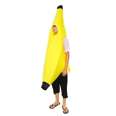Halloween Banana Costume Adult Fancy Dress Fruit Outfit Funny Suit Comedy Party