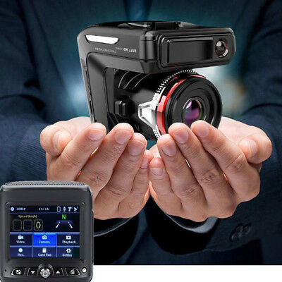 2 in 1 HD 1080P Car DVR Dash Cam Radar Speed Detector Camera Video Recorder New