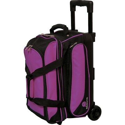Ebonite Transport II Double Roller Bowling Bag, Purple. Best Price