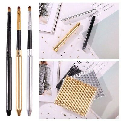 Portable Smooth Travel Retractable Lip Brush Makeup Cosmetic Lipstick Gloss Tool