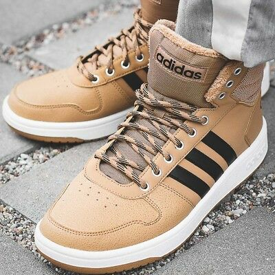 new style cd84d ac0de ADIDAS HOOPS 2.0 MID chaussures hommes montantes sport loisir sneaker B44620