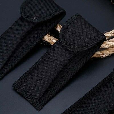 Black Nylon Pouch Sheath Bag Belt Clip Case For Folding Knife Tool