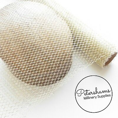 Silver or Gold 48cm Wide Metallic Lurex Mesh Netting for Crafts & Millinery - 1m