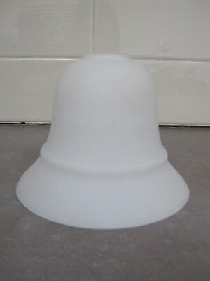 Vintage white frosted glass light lamp shade