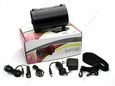 AKER AK38 25W PA Voice Amplifier Booster MP3 Speaker FM + Handheld Mic BLK P6