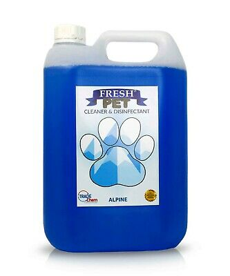Pet Kennel Dog Disinfectant Fresh Cleaner Deodoriser Animal PREFILL 5L ALPINE