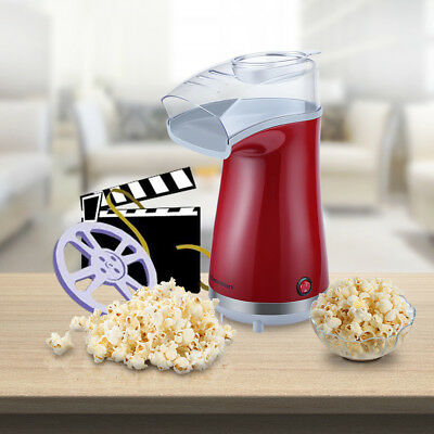 rouge Machine à pop-corn Excelvan Pieds antidérapants 1100 w 0,89 kg