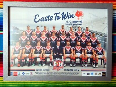 ✺New✺ 2018 SYDNEY ROOSTERS NRL Grand Final Poster - 42cm x 29.5cm Premiers