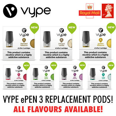 Vype ePEN 3 Pods (6mg 12mg 18mg) | Pack of 2 | All Flavours | Cartridge Vape x2