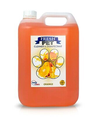 Pet Kennel Dog Disinfectant Fresh Cleaner Animal PREFILL 5L ORANGE