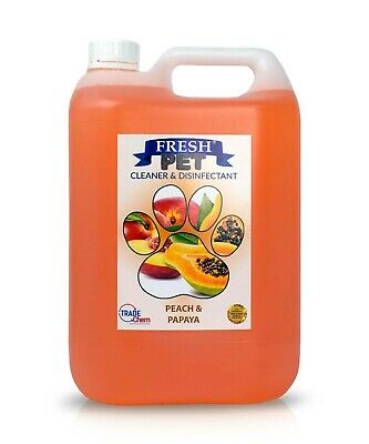 Pet Kennel Dog Disinfectant Fresh Cleaner Animal PREFILL 5L PEACH AND PAPAYA