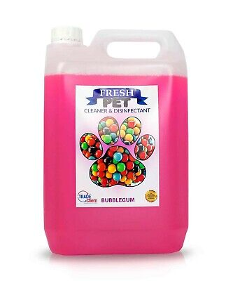 Pet Kennel Dog Disinfectant Fresh Cleaner Animal PREFILL 5L BUBBLEGUM