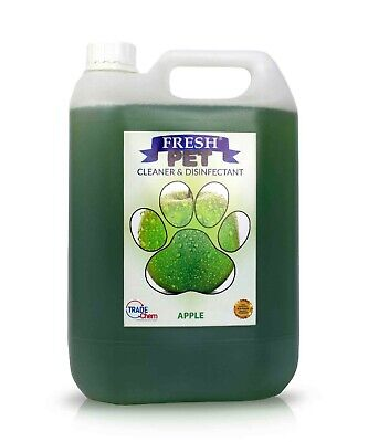 Pet Kennel Dog Disinfectant Fresh Cleaner Animal PREFILL 5L APPLE