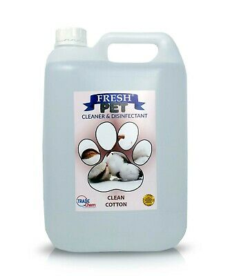 Pet Kennel Dog Disinfectant Fresh Cleaner Animal PREFILL 5L CLEAN COTTON