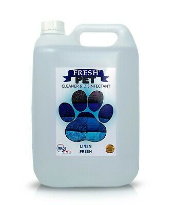 Pet Kennel Dog Disinfectant Fresh Cleaner Animal PREFILL 5L FRESH LINEN