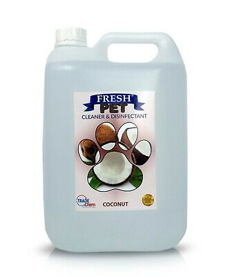 Pet Kennel Dog Disinfectant Fresh Cleaner Animal PREFILL 5L COCONUT