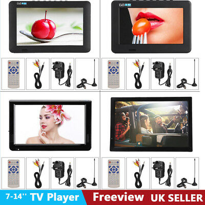 1080P HDMI HD Portable FT-LED Freeview Digital TV Television Player PVR/USB UK