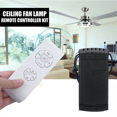 Ceiling Fan Lamp Remote Controller Kit+Timing Wireless Remote Control Adjustment