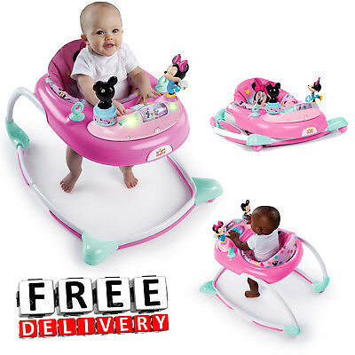 c1dfe00d4 BABY WALKER ACTIVITY Mini Mouse Exersaucer Pink Toy Girl Kid Toddler ...