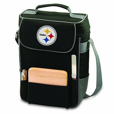 (Pittsburgh Steelers) - NFL Duet Insulated 2-Bottle Wine and Cheese Tote