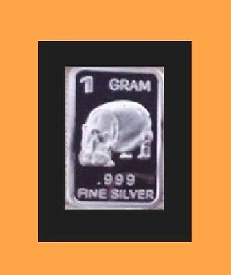 New 1 gm. Whason Mint .999 silver bar - Hippo    ++ ADD-ONs available !