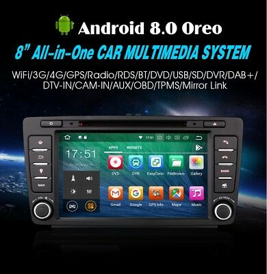 "Radio Dvd 8"" Exclusif Skoda Octavia Android 8.0 Usb Gps 4G Bluetooth 4Gb Ram"