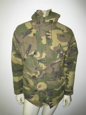 PENFIELD Men's Camo Camouflage Hudson Wax Cloth Hooded Parka Size SMALL