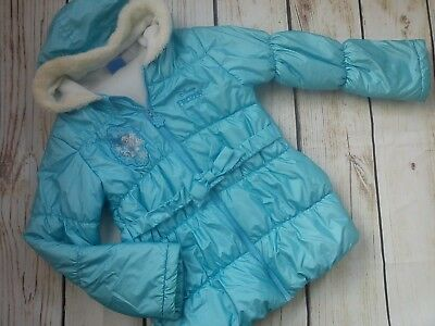 Nice Frozen Blue Autumn Winter Bear Girl Jacket Coat 9/10 Yrs