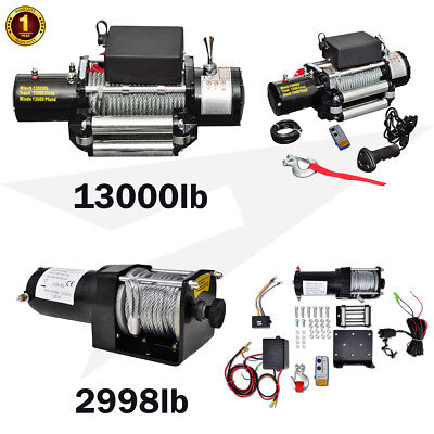 Powerful Electric Winch 2998/13000lb 12V Wireless Recovery Caravan Steel Cable