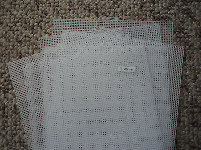 6 SHEETS - 7 COUNT PLASTIC MESH EMBROIDERY CANVAS / 26x34cm JOB LOT