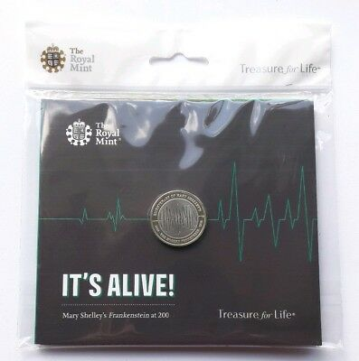 Royal Mint 2018 Frankenstein 200 year Anniversay £2 Two Pound BUNC Coin in Pack