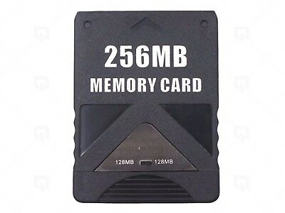 PS2 256MB Black Memory card PS2 Console Slim PlayStation 2 Sony Genuine 256MB