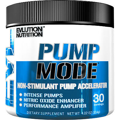Evlution Nutrition Pump Mode Nitric Oxide Booster to Support Intense Pumps
