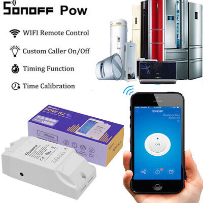 Sonoff POW R2 Real Time Energy Monitoring Consumption Timing Remote Control