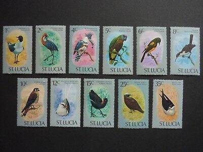 ST LUCIA part set of 1976 BIRDS definitives unmounted mint with TONING S.G. 415