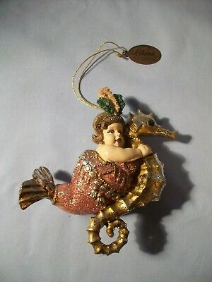 Katherine's Collection Mermaid on seahorse Christmas  Decoration Ornament
