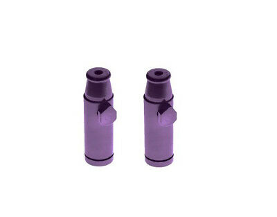 2 x Purple Snuff Bullet Dispenser Metal Aluminum Snorter Rocket Box Nasal