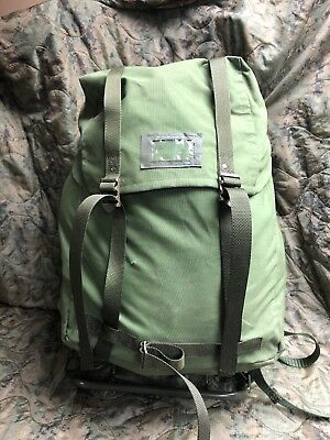 Vintage Swedish Army LK35 Military Backpack Classic Bushcraft Rare Excellent