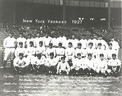 1927 New York Yankees 8X10 Team Photo Baseball Picture Ny With Names Mlb