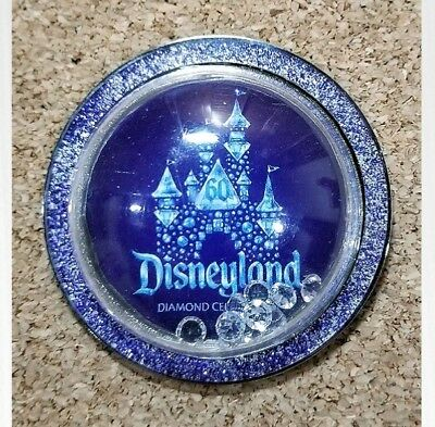 Disneyland 60th Anniversary Diamond Celebration Castle with Crystals Bubble Pin