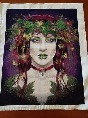 Poison Ivy completed cross-stitch (unframed)