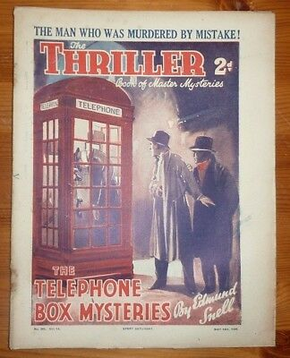 THE THRILLER No 380 Vol 14 16TH MAY 1936 THE TELEPHONE BOX MYSTERIES BY E. SNELL