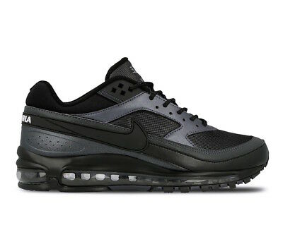 "Men's Nike Air Max 97/BW ""Black/Metallic Hematite"" Athletic Fashion AO2406 001"