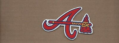 New 3 1/2 Inch Atlanta Braves Iron On Patch Free Shipping